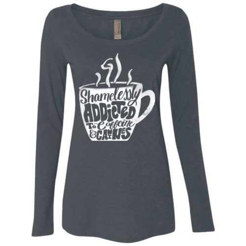 Shamelessly Addicted Fitted Scoop Neck Long Sleeve