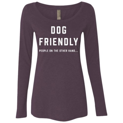 Dog Friendly Fitted Scoop Neck Long Sleeve