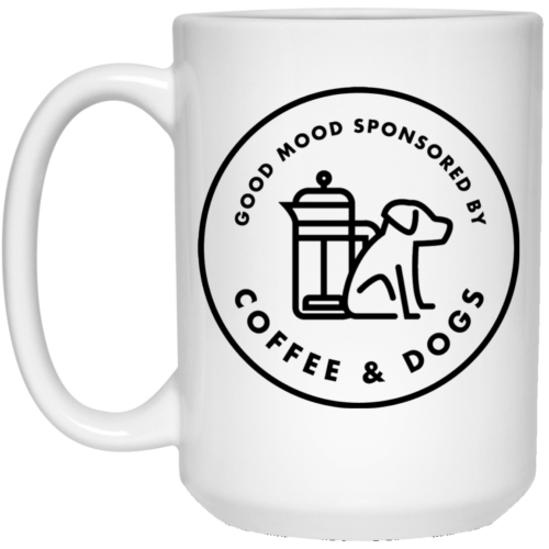Sponsored By Coffee & Dogs 15 oz. Mug