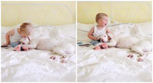 Previously Uncared for Rescue Canine Is Smitten With Her Human Child Brother