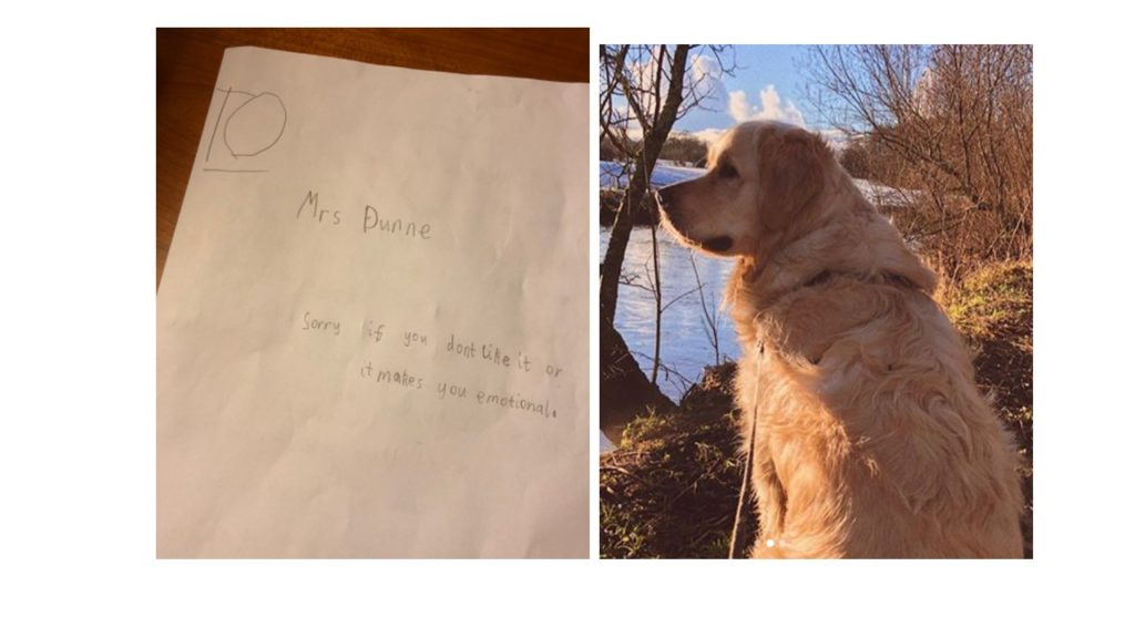 Boy Pens The Sweetest Sympathy Card To Teacher Mourning Loss Of Her Dog