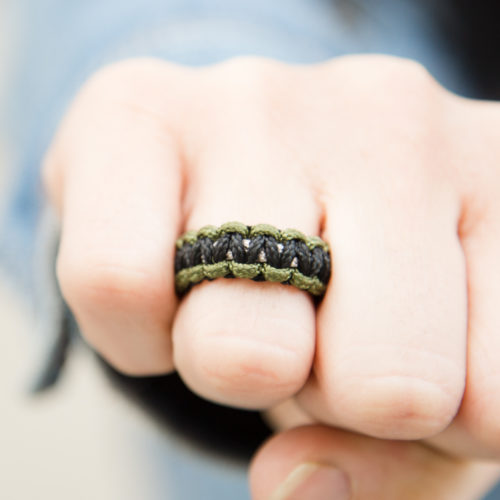 Camo Paracord Ring: Helps Pair Veterans with a Service Dog or Shelter Dog