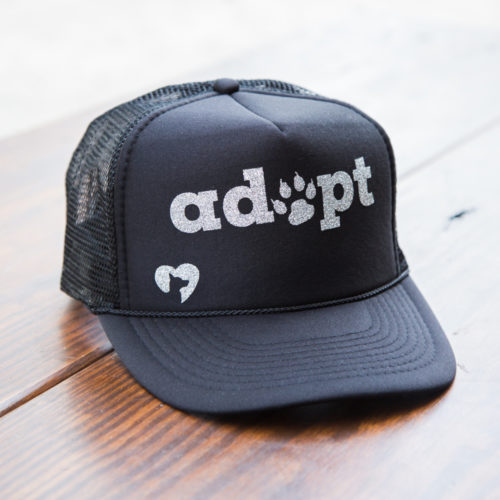 Adopt Glitter Canvas Trucker Hat