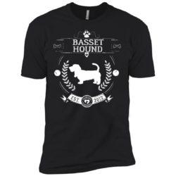 Varsity Basset Hound Premium T-Shirt
