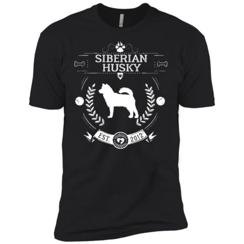 Varsity Siberian Husky Premium Tee