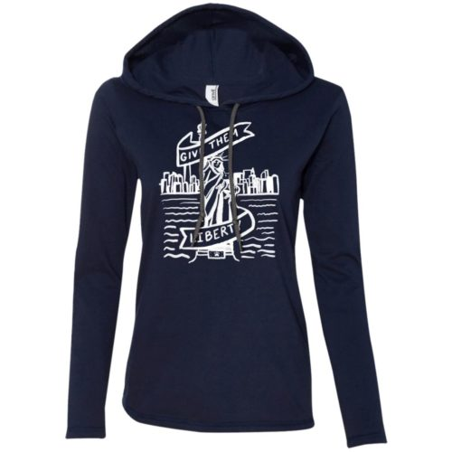 Lady Liberty Sketch Fitted T-Shirt Hoodie