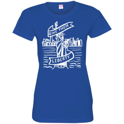Lady Liberty Sketch Fitted Tee