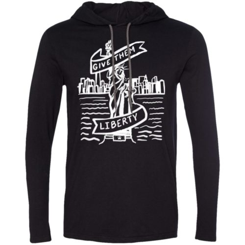 Lady Liberty Sketch T-Shirt Hoodie