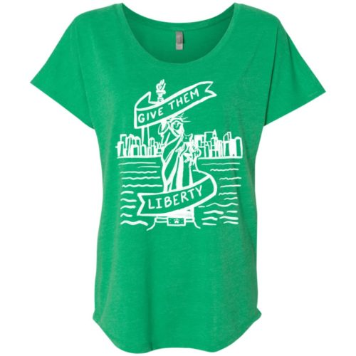 Lady Liberty Sketch Slouchy Tee