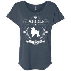 Varsity Poodle Ladies' Slouchy T-Shirt