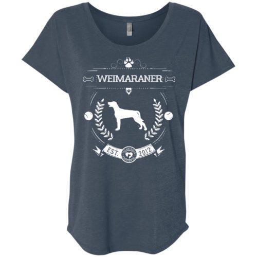 Varsity Weimaraner Slouchy Tee