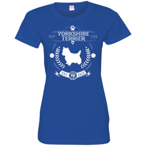 Varsity Yorkshire Terrier Fitted Tee