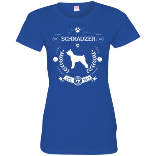 Varsity Schnauzer Fitted Tee