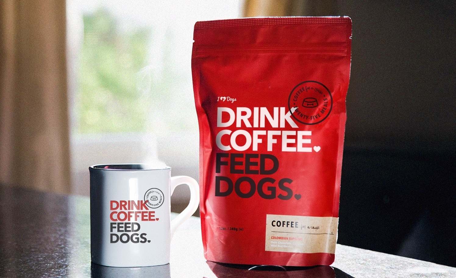 Coffee for a Cause: Never Feel Guilty About That Extra Cup. It Feeds Shelter Dogs!