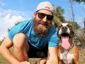 Former NFL Participant Travels The US With Newly Adopted Canine In Tow