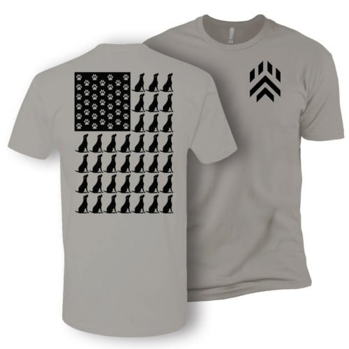 Dog Paw Flag Chevron Premium Tee