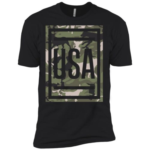 Green Dog Camo USA Premium Tee