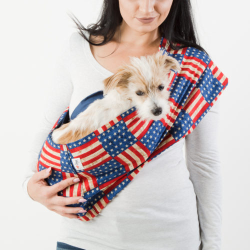 American Classic Flag Calming Aromatherapy Dog Carrier Sling