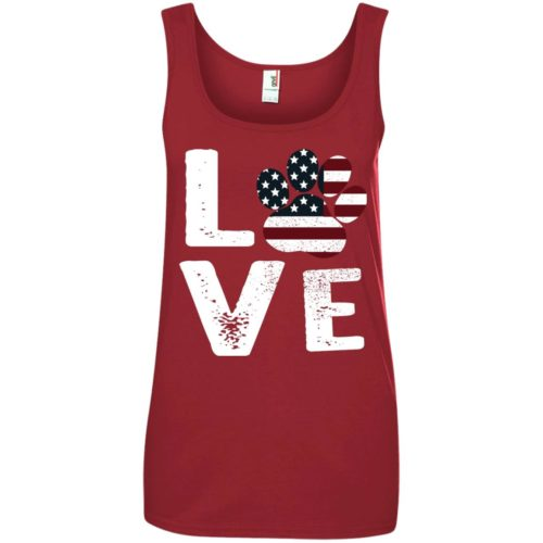 Love Paw USA Women's Basic Tank