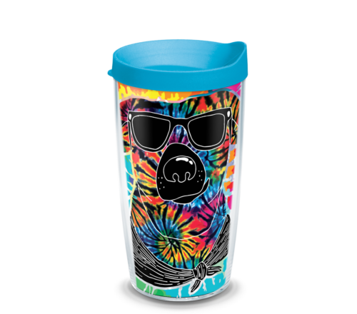 Tie Dye Dog Tervis Insulated 16oz BPA-Free Plastic Tumbler