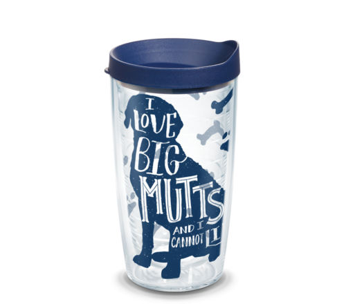 I Love Big Mutts Tervis Insulated 16oz BPA-Free Plastic Tumbler