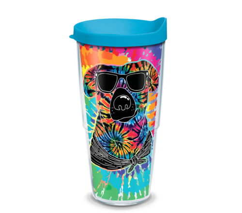 Tie Dye Dog Tervis Insulated 24oz BPA-Free Plastic Tumbler