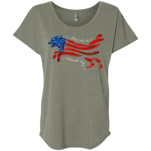 Free As A Rescued Dog Slouchy Tee