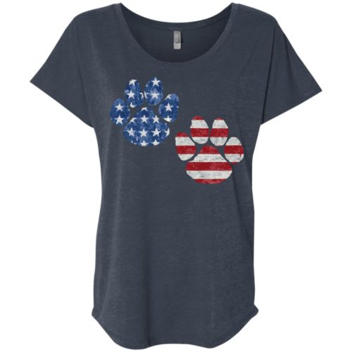 Flag Paws USA Slouchy Tee