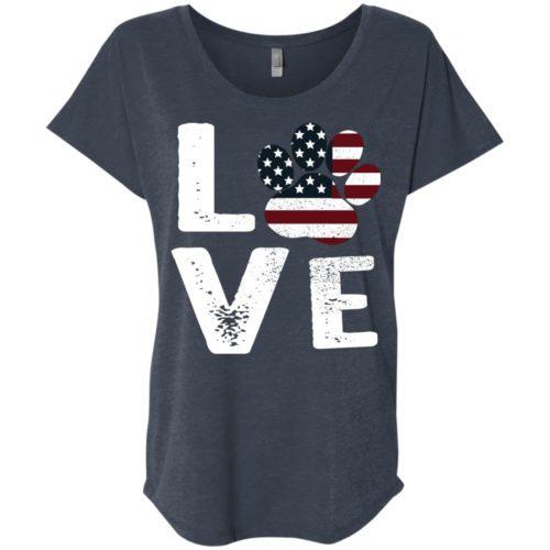 Love Paw USA Slouchy Tee