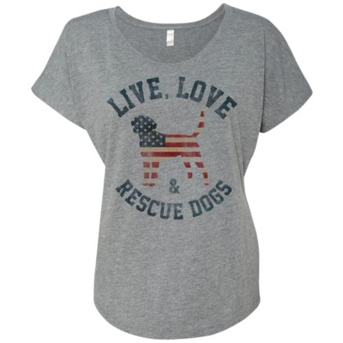 Live, Love, Rescue Dogs Slouchy Tee