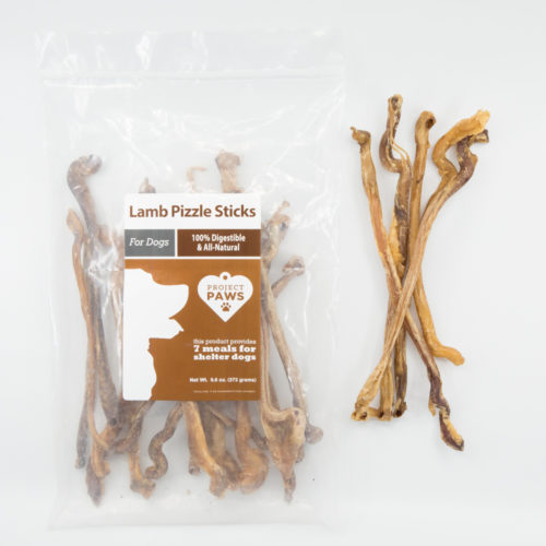 Lamb Pizzle Stick Pack: Healthy Single Ingredient Chew That Also Provides Meals For Shelter Dogs
