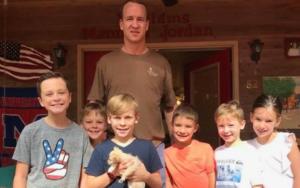 Peyton Manning Adopts Rescue Pet Throughout Household Trip
