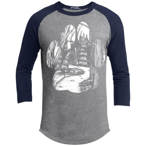 Forest Walk Paw 3/4 Sleeve Baseball Shirt