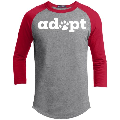 Adopt Paw 3/4 Sleeve Baseball Shirt