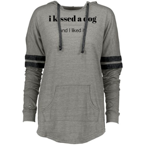 I Kissed A Dog Varsity Slouchy Hoodie