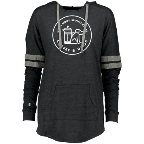 Sponsored By Coffee & Dogs Varsity Slouchy Hoodie