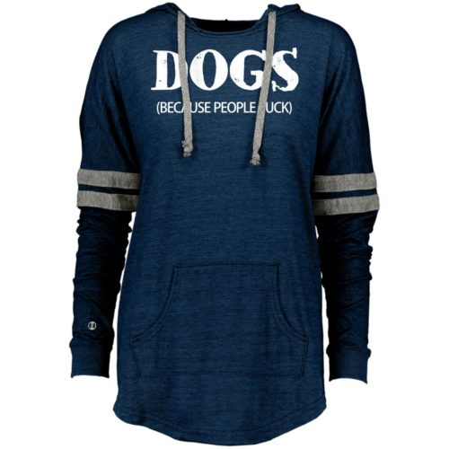 Dogs Because People Suck Varsity Slouchy Hoodie