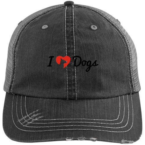 IHD Logo Embroidered Distressed Trucker Hat