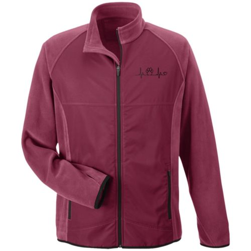 Paw Heartbeat Embroidered Microfleece Jackets