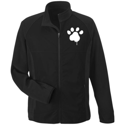 Watercolor Paw Embroidered Microfleece Jackets