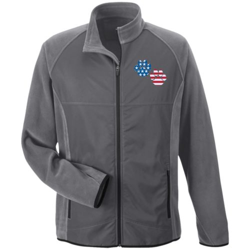 Flag Paws USA Embroidered Microfleece Jackets