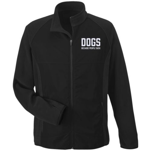 Dogs Because People Suck Embroidered Microfleece Jackets