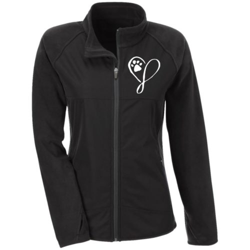 Elegant Heart Embroidered Fitted Microfleece Jackets