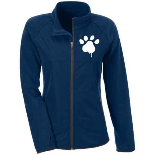 Watercolor Paw Embroidered Fitted Microfleece Jackets