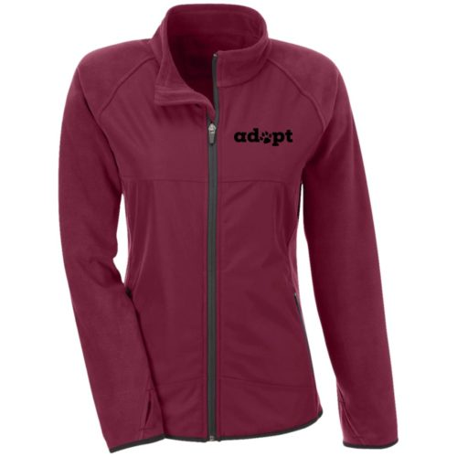 Adopt Paw Embroidered Fitted Microfleece Jackets