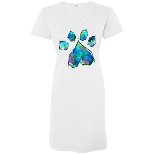 Paw Heart Watercolor Sleepshirt