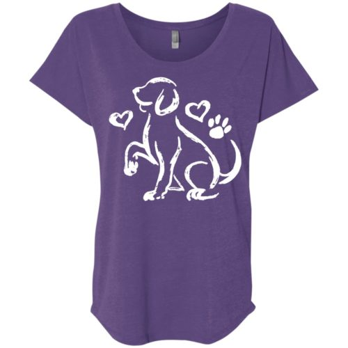 Puppy Love Sketch Slouchy Tee