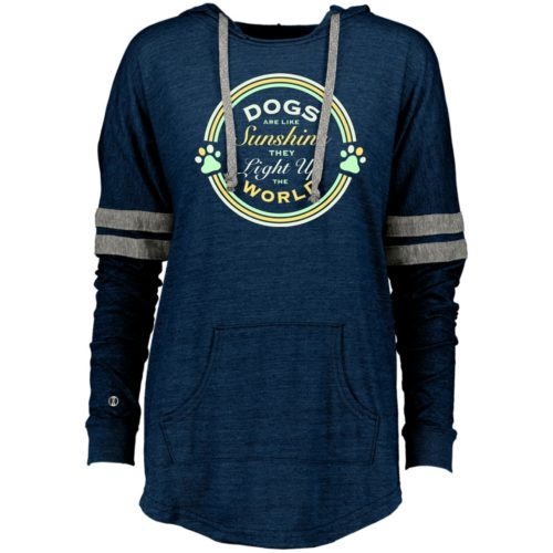 Dogs Are Like Sunshine Varsity Slouchy Hoodie