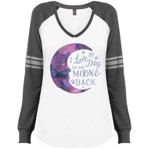 To The Moon & Back Varsity V-Neck Long Sleeve Shirt