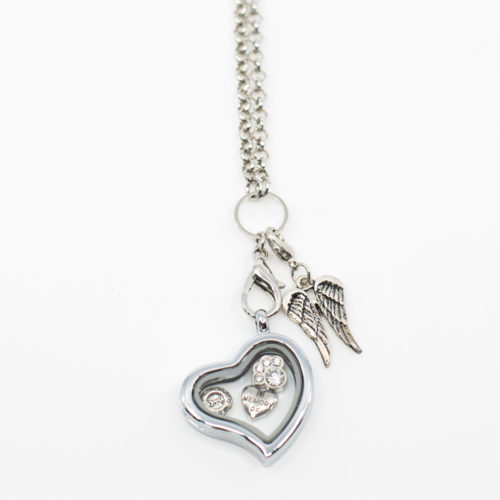 Furever By My Heart Car Charm Locket Set